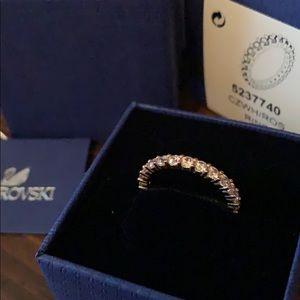 SWAROVSKI Vittore rose gold Crystal Ring 55